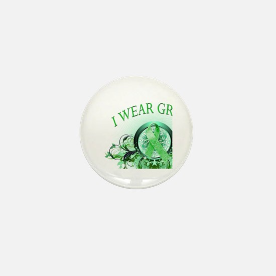 I Wear Green for my Aunt (floral) Mini Button