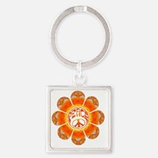 Peace Flower - Summer Square Keychain