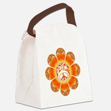 Peace Flower - Summer Canvas Lunch Bag
