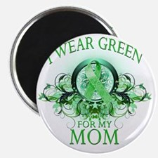 I Wear Green for my Mom (floral) Magnet
