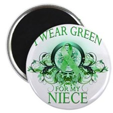 I Wear Green for my Niece (floral) Magnet