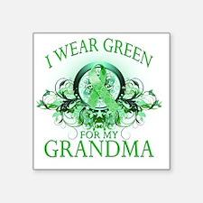 "I Wear Green for my Grandma Square Sticker 3"" x 3"""