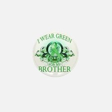 I Wear Green for my Brother (floral) Mini Button