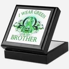 I Wear Green for my Brother (floral) Keepsake Box