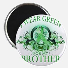 I Wear Green for my Brother (floral) Magnet