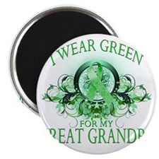 I Wear Green for my Great Grandpa (floral) Magnet