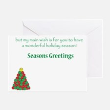 TennisHolidayInside 7x5 Greeting Card
