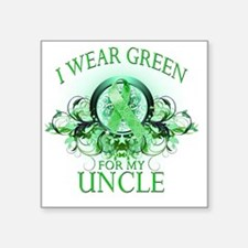 """I Wear Green for my Uncle ( Square Sticker 3"""" x 3"""""""