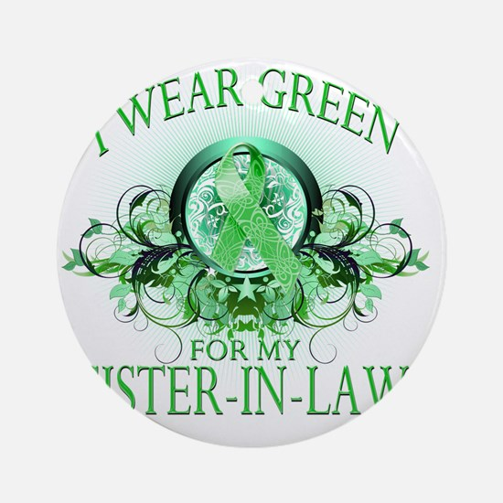 I Wear Green for my Sister In Law ( Round Ornament