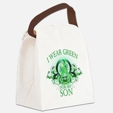 I Wear Green for my Son (floral) Canvas Lunch Bag