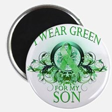 I Wear Green for my Son (floral) Magnet