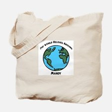 Revolves around Mandy Tote Bag