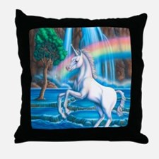 Rainbow_Unicorn_16x20 Throw Pillow