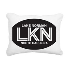 Lake Norman Oval Sticker Rectangular Canvas Pillow