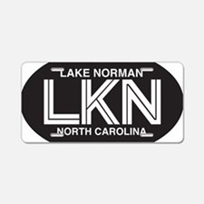 Lake Norman Oval Sticker Aluminum License Plate