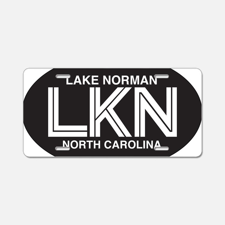 Lake Norman Oval Sticker Aluminum License Plate