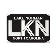 Lake Norman Oval Sticker Rectangle Magnet