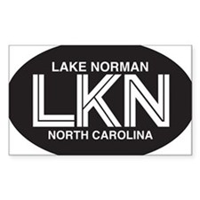 Lake Norman Oval Sticker Decal