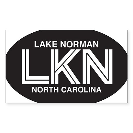 Lake Norman Oval Sticker Sticker (Rectangle)