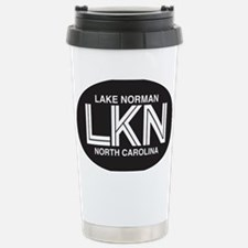 Lake Norman Oval Sticker Stainless Steel Travel Mu
