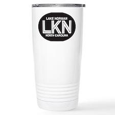 Lake Norman Oval Sticker Travel Mug