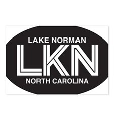 Lake Norman Oval Sticker Postcards (Package of 8)