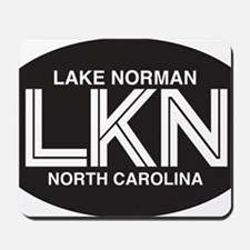 Lake Norman Oval Sticker Mousepad