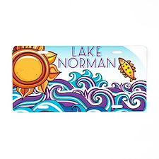Lake Norman Waves  Sun Aluminum License Plate