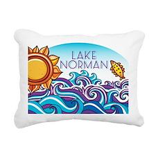 Lake Norman Waves  Sun Rectangular Canvas Pillow