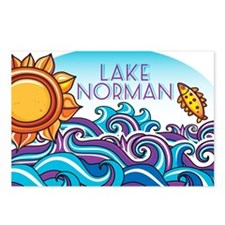 Lake Norman Waves  Sun Postcards (Package of 8)