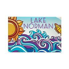 Lake Norman Waves  Sun Rectangle Magnet
