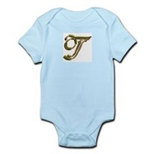 Phyllis Initial T Infant Creeper