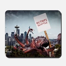 Octopi Seattle Large Poster Mousepad