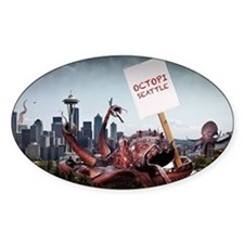 Octopi Seattle Large Poster Decal
