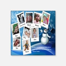 "2012 January Square Sticker 3"" x 3"""