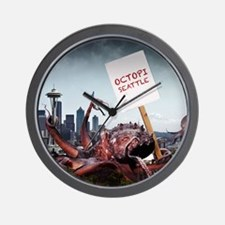 Octopi Seattle Wall Clock