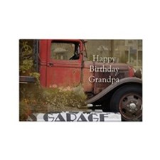 Old Truck Grandpa Birthday Rectangle Magnet