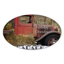Old Truck Grandpa Birthday Decal