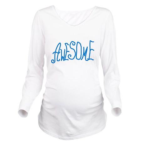 AWESOMEGRANDPAW Long Sleeve Maternity T-Shirt