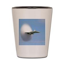 sonicboomplane_navy Shot Glass