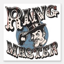 "ring-master2-T Square Car Magnet 3"" x 3"""