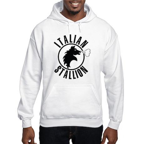 The Italian Stallion (Black) Hooded Sweatshirt