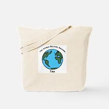 Revolves around Tina Tote Bag