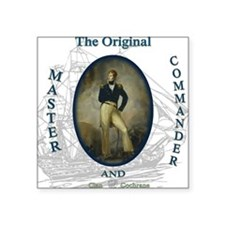 "master and commander Square Sticker 3"" x 3"""