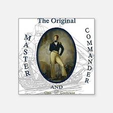 "master and commander Square Sticker 3"" x 3"""