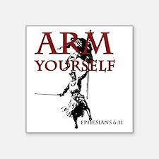 "arm-yourself1 Square Sticker 3"" x 3"""