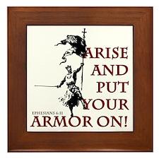 put-your-armor-on Framed Tile