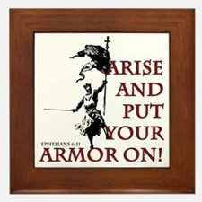 put-your-armor-on Framed Tile