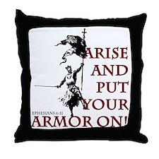 put-your-armor-on Throw Pillow
