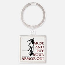 put-your-armor-on Square Keychain